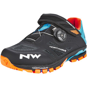 Northwave Spider Plus 2 Chaussures Homme, black/green/orange